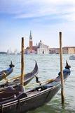 Kanaal en gondels, Venetië, Italië Royalty-vrije Stock Afbeeldingen