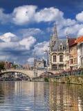 Kanaal in Gent Royalty-vrije Stock Foto
