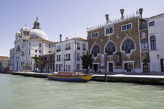 Kanaal Giudecca, Venetië Royalty-vrije Stock Fotografie