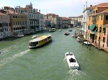 Kanaal Grande, Venetië Stock Fotografie