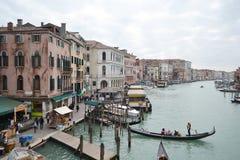Kanaal Grande in Venetië Stock Foto