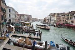 Kanaal Grande in Venetië Stock Foto's