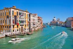 Kanaal Grande in Venetië, Italië Stock Afbeeldingen