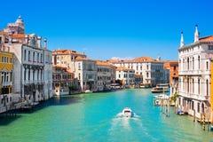 Kanaal Grande in Venetië, Italië Royalty-vrije Stock Foto's