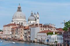 Kanaal Grande in VENETIË, ITALIË stock fotografie