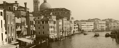 Kanaal Grande in Venetië, Italië Royalty-vrije Stock Afbeelding