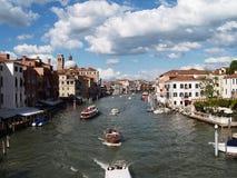Kanaal grande, Venetië /Italy Stock Foto's