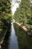 Kanaal in het park Royalty-vrije Stock Fotografie