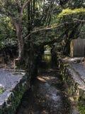 Kanaal in Ise Jingu Stock Afbeeldingen