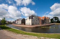 Kanaal in Op Buuren Buiten, Nederland Royalty-vrije Stock Foto's