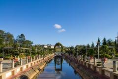 Kanaal in park royalty-vrije stock afbeelding