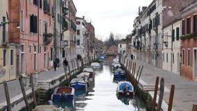 Kanaal in Venetië stock videobeelden