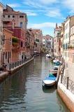 Kanaal Venetië Italië Stock Foto's