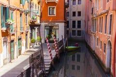 Kanaal in Venetië, Italië Stock Fotografie