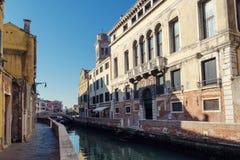 Kanaal in Veneti? stock afbeelding