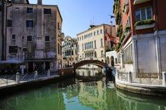 Kanaalcityscape in Venetië, Italië stock afbeelding