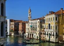 Kanaalcityscape in Venetië, Italië stock fotografie