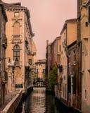 Kanaalmening van Venetië, Italië Stock Fotografie