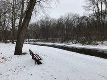 Kanaalpark in de winter Royalty-vrije Stock Foto's