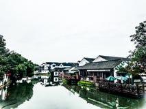 Kanaalsteden in Zuiden van Yangtze royalty-vrije stock foto