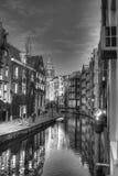 Kanaalstraat in Amsterdam Nederland HDR Stock Afbeelding