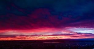 Kanab UT solnedgång Arkivfoto