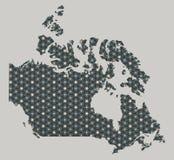 Kanada översikt med stjärnor och prydnader Arkivfoto