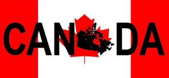 Kanada översiktstext Royaltyfri Fotografi
