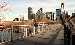 Kanada Alberta Calgary Downtown Arkivbilder
