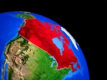 Kanada auf Planet Erde lizenzfreie abbildung