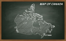 Kanada auf Tafel Lizenzfreie Stockfotos