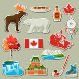 Kanada-Aufkleberikonen eingestellt Vektor Abbildung