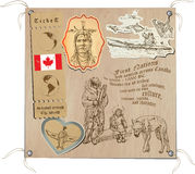 Kanada - Bilder des Lebens, Stämme Stockfotos