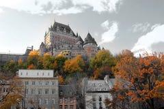 Kanada chateaustad quebec Royaltyfri Foto