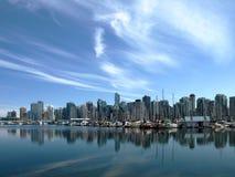 Kanada cityscape vancouver Arkivfoto