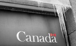 Kanada - det är kallt övre här fotografering för bildbyråer