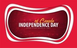 Kanada Dnia Niepodległości kartka z pozdrowieniami papieru cięcia styl ilustracja wektor