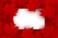 Kanada dnia projekt puści białego papieru i czerwieni liście klonowi Fotografia Stock