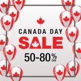 Kanada dnia sprzedaż Zdjęcia Stock