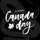 Kanada dnia Wakacyjnego literowania zwrota kaligrafii Wektorowy chalkboard ilustracja wektor