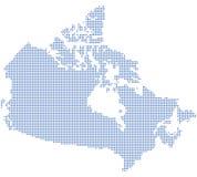 Kanada dots översikten Royaltyfri Foto