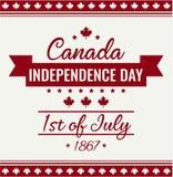 Kanada dzień, dzień niepodległości Obrazy Royalty Free