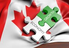 Kanada ekonomi och finansmarknadtillväxtbegrepp stock illustrationer