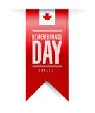 Kanada-Erinnerungstagesbeschaffenheitsfahne Lizenzfreies Stockbild