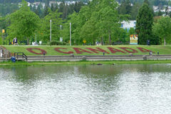 Kanada för flora`-nolla som ` göras från röd begonia Arkivfoto
