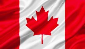 Kanada fahnenschwenkend mit dem Wind, Illustration 3D Stockbilder
