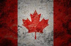 Kanada flaga na grunge kamienia tle ilustracji