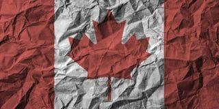 Kanada flaga z wysokim szczegółem zmięty papier ilustracji