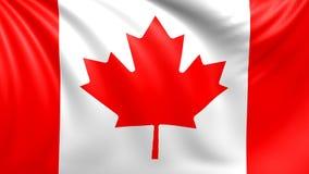 Kanada flagga Sömlös kretsad video, längd i fot räknat stock illustrationer