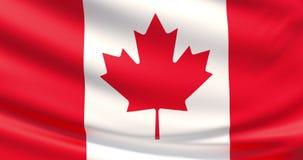 Kanada flagga Vinkad högt detaljerad tygtextur vektor illustrationer